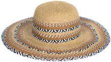 Cappello di paglia con dettagli zebrati