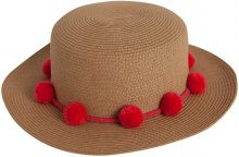 PIECES Straw Hat Women Pink