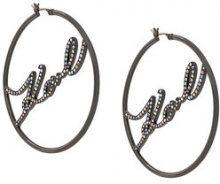 Karl Lagerfeld - Cerchi 'Karl' - women - Brass - One Size - METALLIC