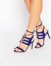 Public Desire - Sandali blu con tacco e cinturino