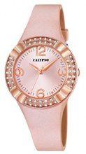 Calypso, orologio da donna al quarzo con display analogico rosa e cinturino in plastica oro rosa, K5659/2