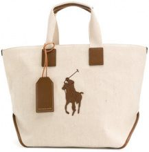 Polo Ralph Lauren - Borsa tote 'Big Pony' - women - Cotton/Jute/Leather - OS - NUDE & NEUTRALS