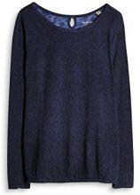 ESPRIT 997ee1k810, Maglia a Maniche Lunghe Donna, Blu (Navy 400), XX-Large