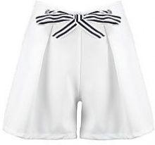 Erin pantaloncini a righe con cintura allacciata