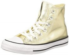 Converse 153178C, Sneaker a Collo Alto Donna, Oro (Light Gold/White/Black), 37.5 EU