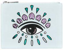 Kenzo - embroidered eye clutch - women - Cotton/Leather/Nylon/Polyurethane - One Size - BLUE