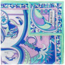 Emilio Pucci - Sciarpa con stampa - women - Cotone - One Size - Blu