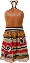 Red Valentino - knit halterneck dress - women - Cotton/Viscose - XS - BROWN