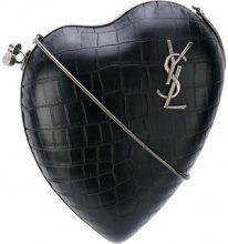 Saint Laurent - Love Box clutch - women - Calf Leather/metal - OS - BLACK