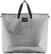 Love Moschino - Transformable shopping bag - women - Polyurethane - OS - METALLIC
