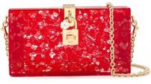 Dolce & Gabbana - Clutch Dolce Box - women - Cotton/Polyamide/Viscose/Other fibres - One Size - RED