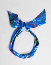 ASOS - Foulard blu a fiori - Multicolore