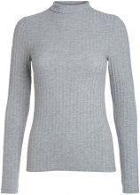 PIECES Turtleneck Pullover Women Grey