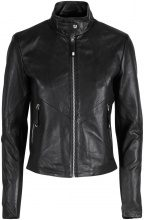 Y.A.S Lamb Leather Jacket Women Black