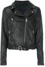 Diesel - Giacca biker - women - Cotton/Polyester/Spandex/Elastane - S - BLACK