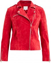 VILA Suede Jacket Women Red