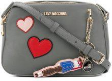 Love Moschino - Borsa con toppa a cuore - women - Polyurethane - OS - GREY