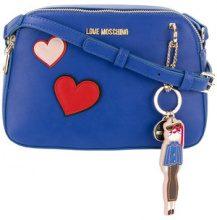 Love Moschino - Borsa con toppa a cuore - women - Polyurethane - OS - BLUE