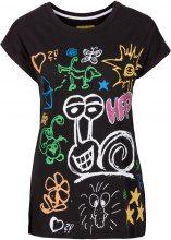 T-shirt stampata (Nero) - RAINBOW