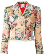 Moschino Vintage - Giacca floreale modello crop - women - Polyester - S - NUDE & NEUTRALS