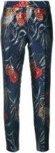 P.A.R.O.S.H. - Pantaloni crop con fantasia - women - Polyamide/Polyester/Acetate/Polyimide - S - BLUE