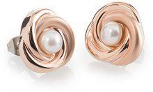 Boccia Orecchini da donna, in titanio, con perla bianca–0590–03