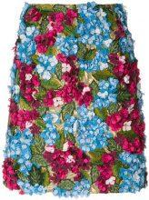 Dolce & Gabbana - Gonna ricamata 'Hydrangea' - women - Polyester/Polyamide/Lurex/Spandex/Elastane - 36 - MULTICOLOUR