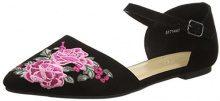New LookLarnell - Strap Alla Caviglia Donna, Nero (Black (Black)), 40