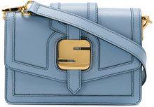 Serapian - metal detail shoulder bag - women - Leather - OS - BLUE