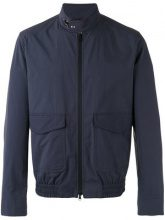 Fay - roll neck bomber jacket - men - Cotton/Polyamide - S - BLUE