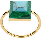 Fendi - Rainbow two-tone ring - women - Brass/Steel/Pietra - 50, 53, 56 - Metallizzato