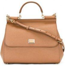 Dolce & Gabbana - Borsa a spalla 'Sicily' - women - Calf Leather - One Size - BROWN