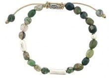 M. Cohen - Braccialetto con perline - women - Silver/quartz - OS - GREEN