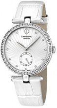 Candino-Orologio da donna al quarzo con Display analogico e cinturino in pelle bianco C4563/1