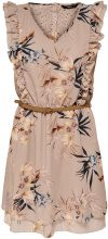 ONLY Printed Short Dress Women Beige