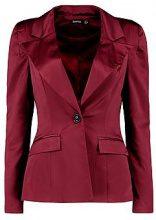 Rebecca Power Shoulder Satin Suit Jacket