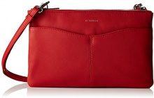 Le Tanneur Valentine - portafoglio Donna, Rouge, 3,5x15x23 cm (W x H L)