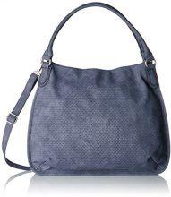 s.Oliver (Bags) 39.707.94.5809 - Borse a secchiello Donna, Blau (Smokey Blue), 12x34x42 cm (B x H T)