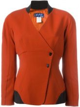 Thierry Mugler Vintage - double breasted blazer - women - Acetate/Viscose/Wool - 42 - RED