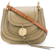 See By Chloé - Borsa a spalla 'Susie' - women - Cotone/Leather - OS - GREEN