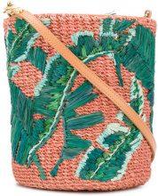 Aranaz - Nana mini bucket bag - women - Leather/Straw - OS - GREEN