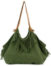 Caravana - Borsa a spalla 'Haleb' - women - Cotton/Calf Leather - OS - GREEN