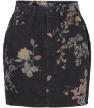 NOISY MAY Hw Flower Skirt Women Black