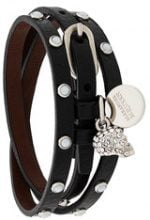 Alexander McQueen - Bracciale con borchie - women - Leather - OS - BLACK