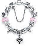 Christmas Wostu Series European perline braccialetto per le donne con modo Art l'ossidazione ciondolo a forma di cuore