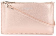 Lancaster - metallic zip clutch - women - Leather - One Size - METALLIC
