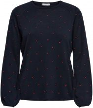 ONLY Dotted Knitted Pullover Women Blue