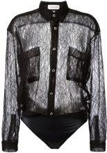 Faith Connexion - lace body shirt - women - Polyamide - S - BLACK