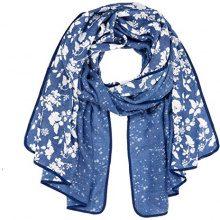 Tom Tailor Lovely Print Scarf, Sciarpa Donna, Blu (Medium Blue 6783), Taglia unica