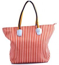 Borsa Shopping K-Way  BORSA  DONNA SHOPPER K-SUN ARANCIO BIANCO RIGHE